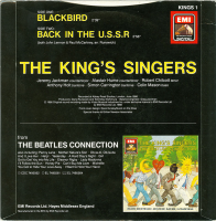 EMI/HMV 45 rpm single KINGS 1 Back cover