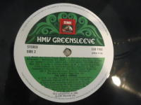 EMI/HMV Greensleeve LP ESD 7103 Side 2 label